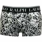Polo Ralph Lauren Fish Coral Print Men's Boxer Trunk, Black/white