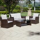 Rattan Garden Furniture Set Brown Or Grey Outdoor Sofa/chair Patio Conservatory