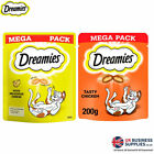 Dreamies Crunchy Cat Treats with Chicken or Cheese Mega Pack 200g