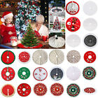 90/120cm Christmas Tree Skirt Mat Party Snow Mat Cover Party Xmas New Year Decor