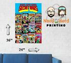 Marvel Secret Wars Collage 1-12 Cover Wall Poster Multiple Sizes 11x17-24x36