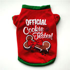 Dog Christmas T-shirt Puppy O Neck Short Sleeve Vest Winter Warm Pet Clothes