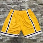 Mitchell & Ness Los Angeles Lakers Big Face Shorts Yellow Big & Tall