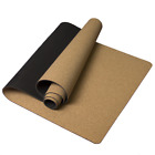 Extra long Extra Firm High Quality Cork Yoga Exercise Mat