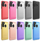 For Samsung Galaxy A21 Phone Case,slim Shockproof Cover+tempered Glass Protector