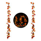 Simulation Autumn Fall Maple Leaves Garland Hanging Plant Thanksgiving/Halloween