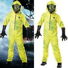 Halloween Kids Boys Girls Breaking Bad Yellow Hazmat Suit Party Fancy Dress Set