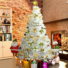 '5/6ft Christmas Popup Tree Artificial Snow White Flocking Festive Decor Indoor