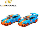 Pre-order CM Model 1:64 Prosche RWB 964 Gulf GT Wing/Ducktail Diecast Model Car