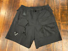 NIKE ACG CARGO MENS SIZE LARGE SHORTS ADJUSTABLE BELT BLACK CK7845-013