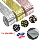 1m Mirror Glass Mosaic Tiles Self Adhesive Roll Wall Sticker Decal Home Decor