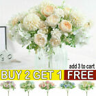 Silk Peony Artificial Fake Flowers Bunch Bouquet Garden Home Party Wedding Decor