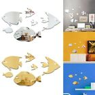 Acrylic Fish Wall Stickers Mirror Decal Stick On Home Room Decor Removable