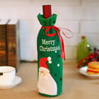 Snowman Wine Cover BagsTable  Christmas Decorationgs Party Ornament Green/Red