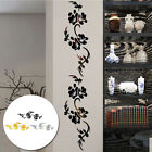 Modern Flower Vines Mirror Effect Acrylic Wall Sticker Decal Home Hallway Decors