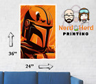 The Mandalorian Artwork Star Wars Series Poster Multiple Sizes 11x17-24x36