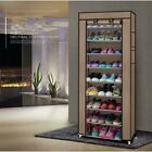 10 Layer Shoes Cabinet Storage Organizer Shoe Rack Dustproof Standing Space