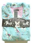 PJ SALVAGE SLEEPWEAR Flannel Pajamas Set womens S M L dogs martini alpaca NWT