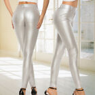 Faux Leather Leggings Womens High Waist Stretchy Push Up Pencil Skinny Pants XL