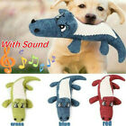 Pet Dog Doggy Squeaky Noise Chew Linen Plush Animal Shape Toy Cleaning Teeth