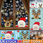 Uk Christmas Xmas Santa Removable Window Stickers Decal Art Wall Home Shop Decor