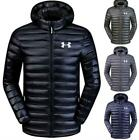 New Men's Under Armour Down Jacket Winter Thick Coat Hooded Warm Puffer Overcoat
