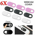 6X Web Cam Cover Slide Privacy Security Protect Sticker For Laptop/Phone/Camera