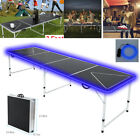 8' Portable Aluminum Folding Beer Pong Table Foldable Outdoor Indoor Game Party