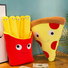 Cute 3D French Fries Pizza Pillow Cushion Creative Cuddly Stuffed Plush Toy Gift