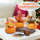 Maple Leaves Faux Pumpkins Artificial for Garland Halloween Thanksgiving Decor U