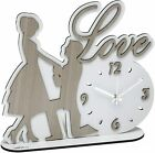 Modern Wooden Wall Clock/Wall Décor/Home Decor laser cutting, Valentine Gift