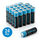 POWERADD 1.5V AA AAA Non-Rechargeable Alkaline Battery 4-100 Pack Lot + Box