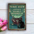 Black Cat And Nurse Brew Ativan Poster Witch Witchcraft Home Living Decor Poster