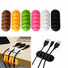 Cable Clip Tidy Winder Earphone Organizer Wire Desk USB Charger Holder Clips Kit