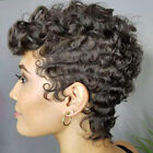 Women Wigs Short Afro Curly Wave Kinky Hair Pixie Cut African Brazilian Full Wig