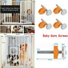 1Pcs Baby Pet Safety Stairs Gate Screws / Bolts with Locking Nut Spare Part kit