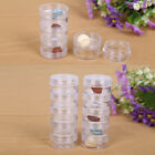 2 Set Storage Stackable Screw Clear Containers 5 Bead Nail Art Container Box