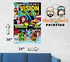 Vision and Scarlet Witch #10 1985 Marvel Comic Cover Wall Poster