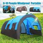 Outdoor Tent Waterproof Portable Travel Camping Hiking Double Layer 8-10 People