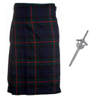 Budget 5 Yard Kilt with Free Matching kilt Pin - Sizes 30-44 - Gunn Modern