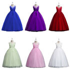 Flower Girls Kids Tulle Party Long Maxi Dress Bridesmaid Pagent Wedding Dresses