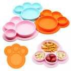 Baby Silicone Plate Feeding Dishes BPA Free Suction Toddle Training Tableware