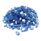 """1/2"""" Reflective Fire Glass for Fireplace Fire Pit Ocean Blue 10/20/30/40/50 lbs"""