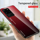 Gradient Tempered Glass Case For Samsung Galaxy S20 S21 Ultra Plus Note 20 Ultra