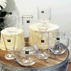 7 Sizes Clear Gold Rim Glass Vase Flower Display Wedding Party Table Home Decor