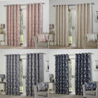 Emma Barclay Butterfly Meadow Floral Jacquard Lined Eyelet Curtains