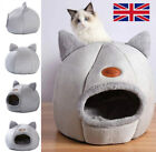 Large Pet Cat Bed Cave Sleep Cozy House Puppy Dog Warm Grey Igloo Nest Kennel