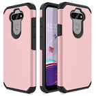 For LG K31 Rebel Phone Case Shockproof Rugged Hard Rubber Dual Layer Armor Cover
