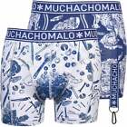 Muchachomalo 2-Pack Toolbox Men's Boxer Briefs, Blue/white