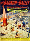 Scenes In The Grand Water - Greatest Show Barnum & Bailey - 1895 - Circus Poster